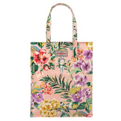 CATH KIDSTON Dusty Pink Tropical Garden Tall Zipped Shopper Bag