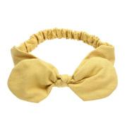 Diamondo Baby Girls Headbands Dot Print Bows Headbands Bownot Headwear Stretchable