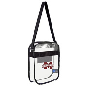 NCAA Mississippi State Bulldogs Clear Carryall Crossbody Bag by Littlearth