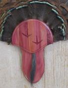 The Taxidermists Woodshop Cedar Carved Turkey Mounting Kit with Beard Plate -02