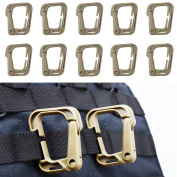 XTACER Tactical Multipurpose D-Ring Locking Hanging Hook Tactical Link Snap Keychain for Molle Webbing