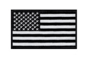 American Flag Tactical morale hook Patch B/W (13cm Width x 7.6cm Height) by Miltacusa