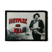 Netflix And Kill Texas Chainsaw Massacre Printed Morale Patch, Hook and loop Morale Patch by NEO Tactical Gear