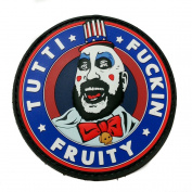 Captain Spaulding Tutti Fuckin Fruity House of 1000 Corpses The Devils Rejects PVC Rubber Morale Patch, Hook and loop Morale Patch by NEO Tactical Gear
