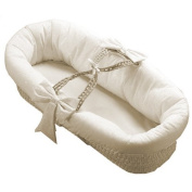 BabyDoll Eyelet Fitted Baby Moses Basket, Ecru