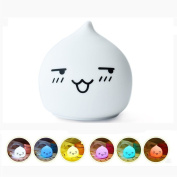 KssFire Mini Night Lamp Children's Silicone LED Multi-colour Night Light AAA Battery Powered Sensitive Tap Control Baby Nursery Lamp for Baby Bedroom, Christmas Gift, Decorative Lamp