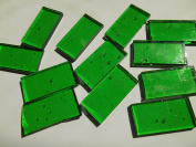 FortySevenGems 50 Pieces Green Stained Glass Mosaic Border Tiles 1.3cm x 2.5cm