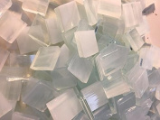 1.3cm Clear White Stained Glass Mosaic Tiles