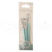 Craft Consortium Decoupage Brush Set 3/Pkg-Flat W/Nylon Bristles; 10Mm, 15Mm & 20Mm