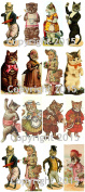 Victorian Cats Collage Sheet #102