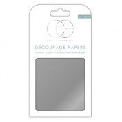 Craft Consortium Decoupage Papers 35cm x 40cm 3/Pkg-Metallic Silver
