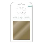 Craft Consortium Decoupage Papers 35cm x 40cm 3/Pkg-Metallic Gold