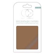 Craft Consortium Decoupage Papers 35cm x 40cm 3/Pkg-Metallic Copper