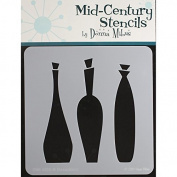 Donna Mibus Mid-Century Stencils 20cm x 20cm -Decanters