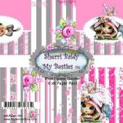 My Besties Single-Sided Paper 15cm x 15cm 8/Pkg-Pink Flower Garden