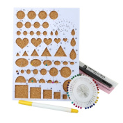 TOOPOOT Quilling Tools Template Board Tweezer Pins Slotted Tool Kit -- random Colour