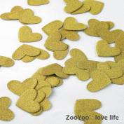 Glitter Paper Confetti Hearts, Wedding Party Decor and Table Decor,Heart-shaped confetti Gold Glitter Paper Confetti, DIY Kits,200pcs,pack of 2,hearts Dots