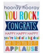 American Greetings Congratulations Colourful Small Gift Bag