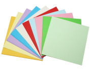 Meetory 100 Sheet Double Sided Coloured Origami Paper,15CM15CM,