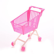 u-hoMEy Doll Accessories Plastic Shopping Cart Trolley Toys for Barbie
