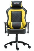 DEER HUNTER LUXURY RECLINING SPORTS RACING GAMING CHAIR EXECUTIVE OFFICE COMPUTER HOME OFFICE Yellow & Black