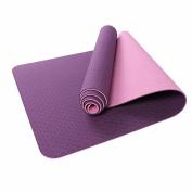 WEAF-Yoga Mat,TPE Double Layer, Eco-friendly TPE Material,183x61x0.6cm,Violet