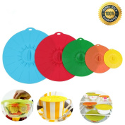 Yulink Colourful Silicone / Microwave/ Food Bowl Covers/ Suction Lids Keep Food Hygienic, Fresh and Delicious, Set of 5