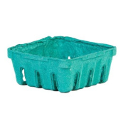 Green Moulded Pulp Fibre Berry / Produce Vented 1/2 Pint Basket by MT Products -