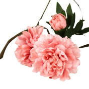 1 Bouquet Artificial Fake Flowers, Leewa Great Gift Peony Festival Bouquet Wedding Party Home Decor