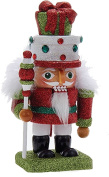 Hollywood Christmas Nutcracker w Gifts Hat 6.7H WH-GR