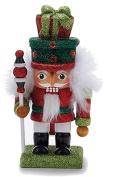 Hollywood Christmas Nutcracker w Gifts Hat 6.7H GR-RD