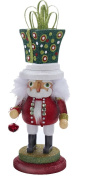 Hollywood Christmas Nutcracker w Presents Hat 14H Square