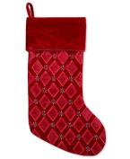Holiday Lane 50cm Red Velvet with Beading Stocking