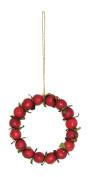 Red Autumn Harvest Crabapple Christmas Wreath Ornament 11cm
