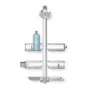 simplehuman adjustable shower caddy XL handheld-compatible stainless steel + anodized aluminium