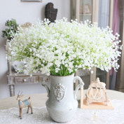 5pcs Artificial Gypsophila Flowers, gloednApple Silk Babybreath Flower Bouquet Plant Garland Party Wedding Home Decor
