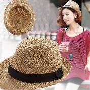 Sun Beach Hat, gloednApple Women Summer Travel Straw hat Bohemian Jazz Hats Sun Hat Solid Caps