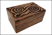 Spiral Goddess Wooden Carved Box for Trinkets, storage, gifts, etc.