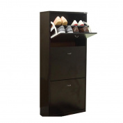 ALUK- European-style Simple Modern Dumping Ultra-thin Large-capacity Shoe Rack Hall Cabinet (wide 50cm Deep 24cm High 108cm)