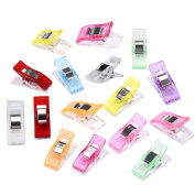 Clamps, XUANOU 50PCs Colourful Sewing Craft Quilt Binding Plastic Clips