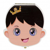 XUANOU Cute Cartoon Tooth Box Organiser For Baby Milk Teeth Save Wood Storage Box With Spanish