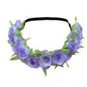 Alonea Fashion Flower Head Chain Hollow Elastic Hair Band Headband Wedding