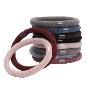 10PCS Thick Large Elastic Ponytail Holder Stretch Hair Tie Hair Rope Hair Band Hair Rope Solid Colour