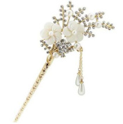 Classical European Style Cherry Blossoms Hairpin Metal Hair Decoration