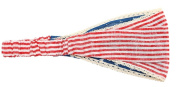 American Girl Flag Headband with Lace