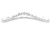 Simple Elegant Double Arch Rhinestone Crystal Bridal Tiara Crown T1266