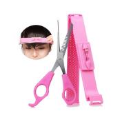 Cut Bangs Artefact Neat Bangs Clip DIY Hairdressing Tools Hair Thinning Scissors Cutters