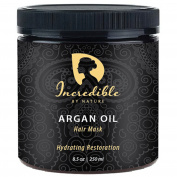 Incredible By Nature Hydrating Restoration Argan Oil Hair Mask (250ml) - Best Deeply Moisturising Conditioner to Repair Dry, Damaged, or Colour Treated Hair For a Shinier, Lustrous Look & Silky Feel