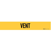 Pipe Marker, Vent, Yel, 2-1/2 to 20cm