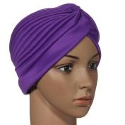 Turban Head Wrap Band Chemo Bandana Pleated Cap Hat